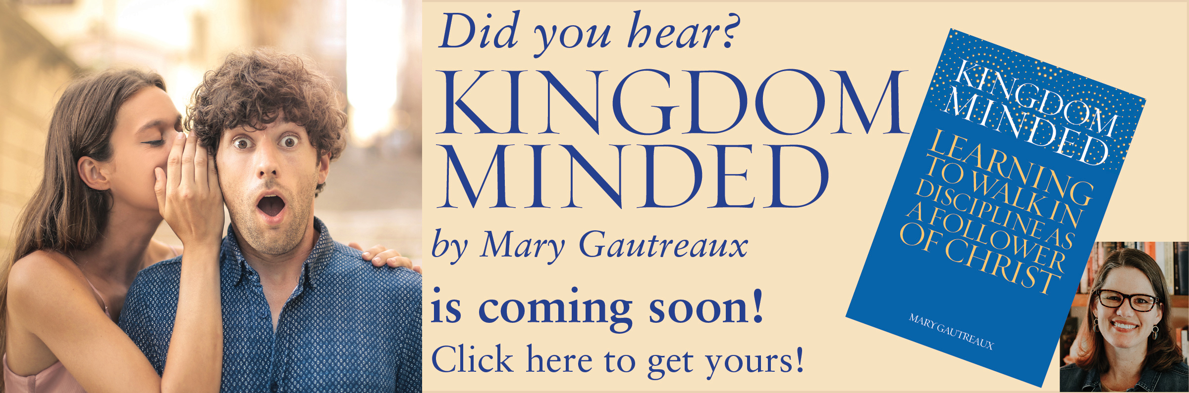 Kingdom-Minded: $15. A must-read for Christians who want to life a more fruitful life for the glory of God